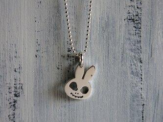 うさぎスカル、silverのネックレス。の画像