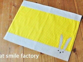 うさぎランチョンマット黄色※送料無料の画像