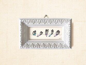 ミニ額縁 原画【 けはい 】mini size ver.の画像