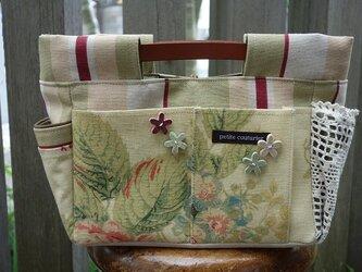 インしたくないバッグインバッグ(イギリス:エジンバラ花柄×ストライプ)の画像