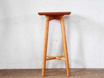 キッチンスツールA・ケヤキ材・座は四角の画像