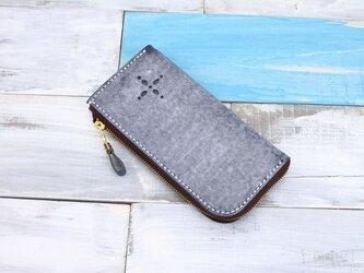 【切線派】【選べるステッチ】牛革手作りL字ファスナー長財布(020006)の画像