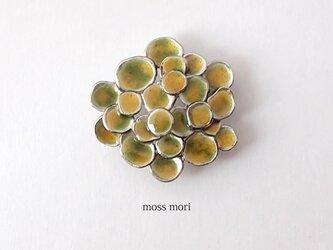 七宝のブローチ【黄緑-黄色】YujiKONO MossシリーズMori Eの画像