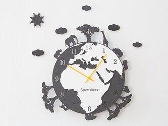 【ウォールクロック】SAVE AFRICA ブラックの画像