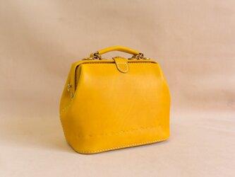 【切線派】大容量 がま口 本革手作りのレザーショルダーバッグ 手染め / 総手縫い 手持ち 肩掛け 2WAY 鞄の画像