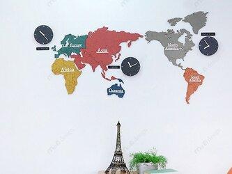 【ウォールクロック】WORLD TIME ECO MIXの画像