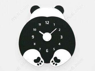 【ウォールクロック】CHUBBY HIP - パンダの画像