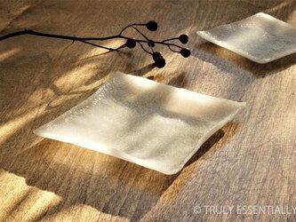 2枚組 ● ガラスの器 -「 KAZEの肌 」● 11cm ・平底の画像