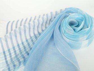 手織りリネンストール【清風*01】の画像