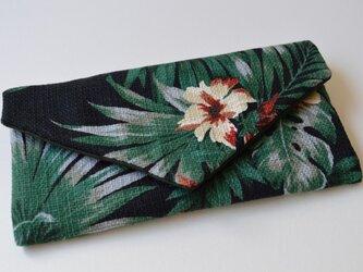 使い方いろいろキズ汚れも防げる・レター型 ポーチ ボタニカル 植物の画像