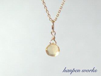 14kgf 11月の誕生石 宝石質 シトリン リング 一粒 ネックレスの画像