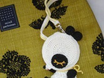 お眠りたまごボーロパンダちゃんのバッグチャーム*の画像