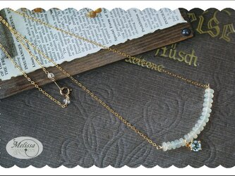 オパールとブルートパーズのネックレスの画像