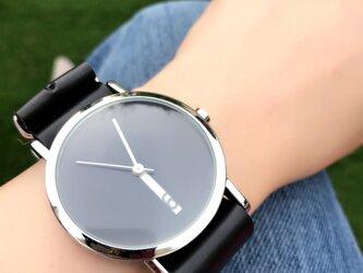 クリエイティブデザイン*隠し文字盤 ペアウォッチ 腕時計 <g-011>の画像