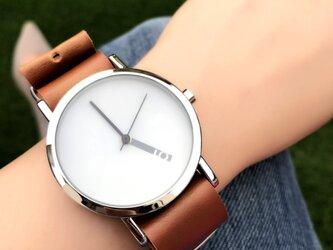 クリエイティブデザイン*隠し文字盤 ペアウォッチ 腕時計 <g-012>の画像