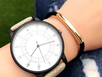 2size カジュアルペアウォッチ ブラウン腕時計 <m-0056>の画像