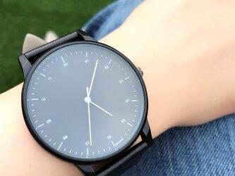 クールスタイリッシュ ブラックシンプル腕時計 ペアウォッチ<e-011>の画像