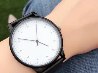 クールスタイリッシュ ホワイトシンプル腕時計 ペアウォッチ<e-012>の画像