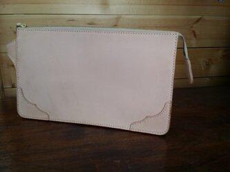 ヌメ革セカンドバッグポケットファスナー付の画像
