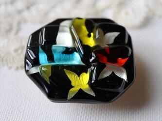 花ちらし(大)*ガラスの帯留めの画像