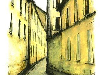 パリの裏通りの画像