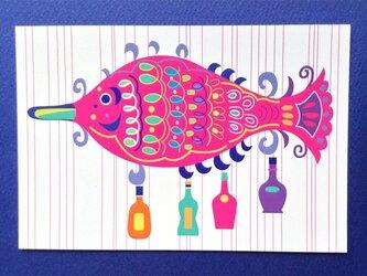 ポストカード4枚セット㉚「ボトルフィッシュ」の画像