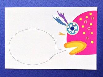 ポストカード4枚セット㉕「はぜの大顔 吹き出し付き」の画像