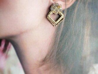 イヤリング・キャビアクラウン(ラブラドライト) 耳飾りの画像