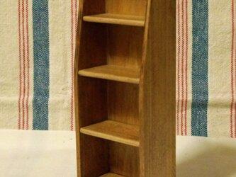 ドール用本棚(色:チェスナット) 1/12ミニチュア家具の画像