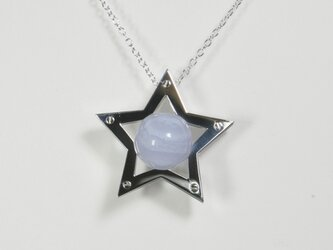 Sphere in the Star Pendant Silver BlueLaceAgate 星 ペンダント の画像