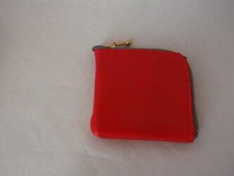 小銭入れに見える財布(赤)の画像