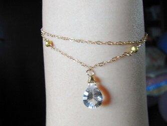 14kgf(2連)宝石質クリスタルのブレスレットの画像