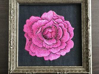 刺繍額  薔薇  アイスバーグ 103の画像