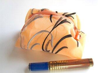 [送料無料] ふわふわポーチ:エトランゼ(イタリア製オーガンジー)の画像