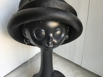 夏帽子(シゾール・黒色)の画像