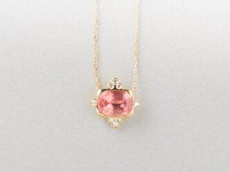 ロードクロサイトダイヤ ネックレスの画像