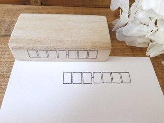 (版権フリー)シンプルな郵便番号欄 はんこ スタンプ の画像