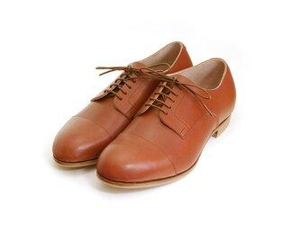 ischia toe cap  マホガニー 革を選べるようになりました。の画像