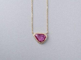 Rohmer ピンクサファイアダイヤネックレスの画像