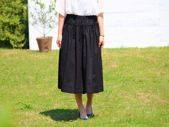 SALE30% OFF リネン ロングスカート ブラックの画像