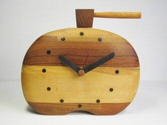 ハンマーショック 寄木置時計の画像