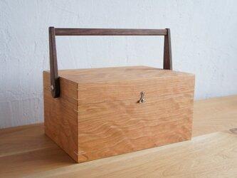 道具箱(ツールボックス・救急箱・小物入れ・裁縫箱)チェリーの画像