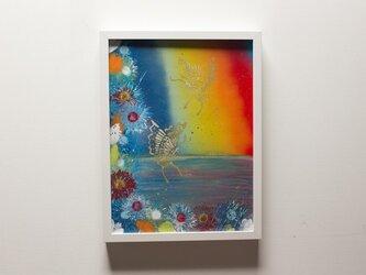 Butterfly / 額入りスプレーアート作品の画像