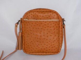 オーストリッチショルダーバッグの画像