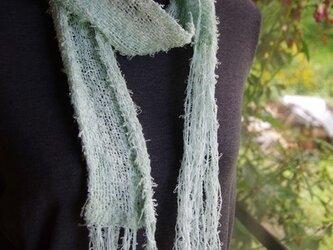手織り オールシーズンマフラー やわらか綿ループ 2の画像
