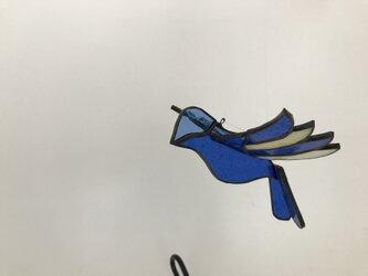 ステンドグラス 青い鳥の画像