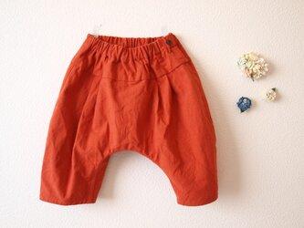 COTTON LINEN タックサルエルパンツ *オレンジ* size 80の画像