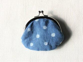 【再出品】藍染 豆がま口 「こんぺいと」の画像