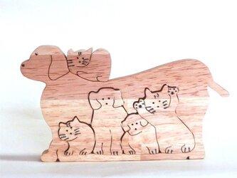 切り抜きの犬と猫の画像