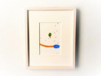 「水たまり」イラスト原画/額縁入りの画像